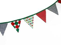 Bandeirinhas Estampadas - Natal - R$39