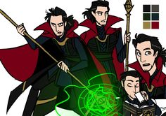 - dkettchen THIS IS SO COOL. It's a blend of Loki and Doctor Strange!