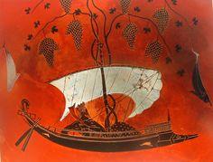 Barco romano y la influencia del vino en la cultura. Para saber más dirigirse a Proyecto Omega.