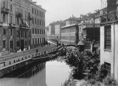 Naviglio di San Marco e Conca dell'Incoronata   da Milan l'era inscì