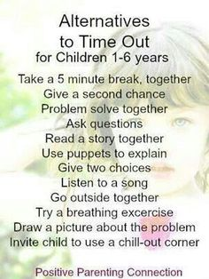 Alternatives to Time Out, nonviolent parenting