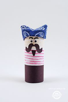 This fun pirate craft for kids doubles as a finger puppet. Make several with friends, use different colors for each one and make an entire scurvy crew.
