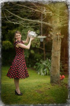 Polka Dot Prettiness Dress Polka Dots, Pretty, Flowers, Shopping, Collection, Vintage, Dresses, Style, Fashion