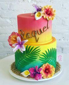 Trendy birthday cupcakes party ideas ideas - My CMS Hawaiian Party Cake, Hawaiian Birthday Cakes, Hawaii Birthday Party, Aloha Party, Birthday Cupcakes, Hawaiian Parties, Hawaiian Luau, Beach Party, Birthday Ideas