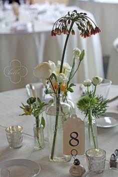 rustic vintage table decor by Bella Signature #wedding #reception