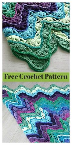 The Wave Stitch is an interesting stitch and works so nicely with different colors. This Wave Stitch Brighton Blanket Free Crochet Pattern is gorgeous. Its beautiful colors and intricate design really make it stand out. Crochet Ripple, Manta Crochet, Afghan Crochet Patterns, Baby Blanket Crochet, Diy Crochet, Crochet Crafts, Crochet Stitches, Knitting Patterns, Crochet Blankets