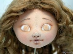 painting cloth doll's face tutorial