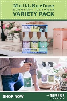 For a spring cleaning season that you can feel good about, start with Mrs. Meyer's Clean Day at Costco. The Multi-Surface Everyday Cleaner Variety Pack contains Lemon Verbena, Basil, and Lavender scents all in one pack! It's convenient, affordable, AND made with essential oils, plant-derived ingredients, and other thoughtfully chosen ingredients. Does it get any better? Tough enough for your kitchen messes and beyond. Click to shop now! Spring Cleaning Organization, Cleaning Day, Organizing, Kitchen Appliance Packages, Gas Dryer, Playroom Furniture, King Bedroom Sets, Clean Freak, Bargain Shopping