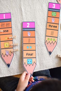 Back to School Preschool and Kindergarten Learning Materials number representations – Kindergarten Lesson Plans Kindergarten Lesson Plans, Homeschool Kindergarten, Kindergarten Classroom, Montessori Math, Teaching Aids, Kids Learning Activities, School Themes, Numeracy, Maths