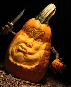 Extreme Pumpkin Carving for Halloween by MB Creative Studio Pumpking Carving, Pumpkin Carving Contest, Easy Pumpkin Carving, Pumpkin Art, Pumpkin Faces, Pumpkin Crafts, Pumpkin Ideas, Pumpkin Designs, Pumpkin Sculpting