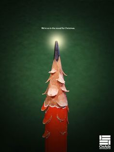 Christmas ad + showing product in a good way