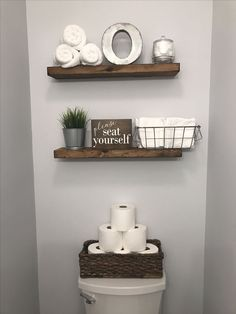 Half bathroom ideas and they're perfect for guests. They don't have to be as functional as the family bathrooms, so hope you enjoy these ideas. Update your bathroom decor quickly with these budget-friendly, charming half bathroom ideas Source by Half Bath Decor, Half Bathroom Decor, Downstairs Bathroom, Floating Shelves For Bathroom, Cheap Bathroom Makeover, Bathroom Wood Shelves, Warm Bathroom, Classic Bathroom, Bathroom Spa