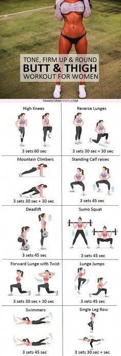 Get ready to experience this amazing workout! These are amazing exercises to lift and round buttocks. This women's workout will help you get sexy thighs and a big bum! Stay motivated always to bring out the best in you! Sport Fitness, Body Fitness, Health Fitness, Workout Fitness, Physical Fitness, Fitness Plan, Fitness For Women, Health Diet, Fitness Diet