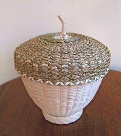 Larger acorn basket by Jeremy Frey, Passamaquodd