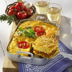 Griechischer Pastitsio Rezept | LECKER Quiche, French Toast, Pasta, Cheese, Cooking, Breakfast, Food, Lunch Ideas, Yummy Recipes