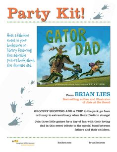 Gator Dad by Brian Lies Activity Kit #lbrianlies #activitykit #stayathomedad