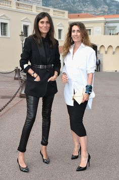 Emmanuelle Alt and Mlle Agnes - 28 - work appropriate and more polished version with button down and wrap skirt