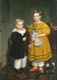 It's About Time  1838 Robert Peckham (American artist, 1785-1877) The Raymond Children