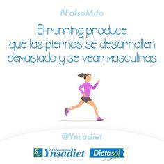 #FalsoMito Muchas mujeres tienen la creencia de que correr desarrolla las piernas y hace que luzcan masculinas.  Pero practicar #running no perjudica la belleza de las piernas de las mujeres.