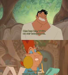 "lgbtlaughs: "" From The Emperor's New Groove (Submitted by sarcasmisdead) """