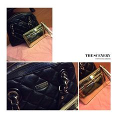 Kate Spade Handbag & Wristlet  Kate Spade black handbag, gently used as my daily handbag but in excellent condition, no signs of wear on the outside, genuine beautiful leather with beige/tan interior, interior may have small marks but nothing major, gold Kate Spade wristlet, used and shows signs of wear, fits iPhone 6 with lip gloss and cards, will come with dust bag and longer strap for handbag. Thanks. kate spade Bags Crossbody Bags