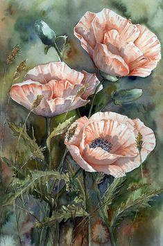 Акварелью нарисую я цветы, что так люблю.Yvonne Harry художник- самоучка. Обсуждение на LiveInternet - Российский Сервис Онлайн-Дневников