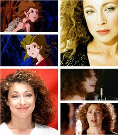 """The Last Unicorn"" live action fancast:  Alex Kingston as Molly Grue (courtesy of theboyfallsfromthesky.tumblr.com)"