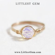 Moonstone Ring wire