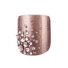 toe nails design- that champaign color is so pretty - toe nails design- that champaign color is so pretty - Get Nails, Fancy Nails, Love Nails, How To Do Nails, Hair And Nails, Nail Art Designs, Pedicure Designs, Toe Nail Designs, Nails Design