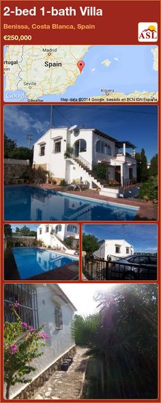 2-bed 1-bath Villa in Moraira, Costa Blanca, Spain ▻€298,000 ...