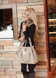 Love the purse and the Leopard Scarf