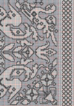 """working drawing 3 for Assisi embroidery design """"shelled border"""""""