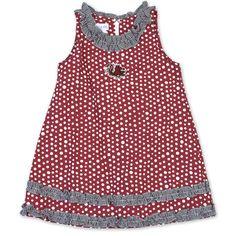 Garnet Aline Polka Dot Toddler Dress #gamecocks #carolina #usc