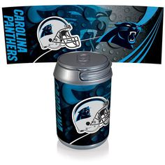 Carolina Panthers Digital Print Mini Can Cooler Silver Gray
