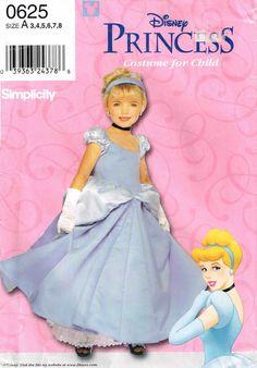 Disney Cinderella Princess Halloween Costume Sewing Pattern