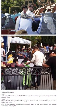 Ginnifer Goodwin and Josh Dallas at Disneyland! - Parallel of 2011 - 2015