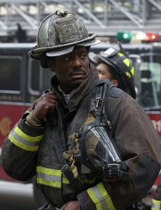 Chicago Fire: Chief Boden checking out the fire scene. | Shared by LION