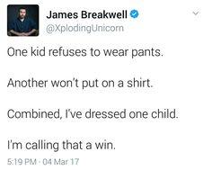 Getting kids dressed isn't a chore. It's a battle.