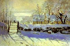 "Claude Monet, ""La pie"" 1868-69, Paris,Orsay."