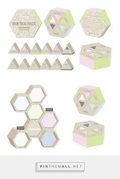 Summer Tea Packaging by Serena Occhiuzzi. Source: Behance. #SFields99 #packaging #design #inspiration #structural #box #tea