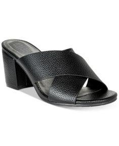 ebe3605795e Kenneth Cole Reaction Women s Mass Away Block-Heel Slide Sandals Shoes -  Sandals   Flip Flops - Macy s