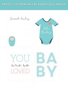 FREE PROJECT LIFE: BABY BOY FREEBIE