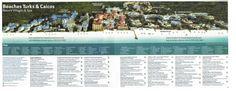Resort Map for Beaches Turks & Caicos Resort.