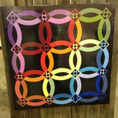 """""""Double Wedding Ring"""" painted by Laurel Barn Quilts and can be found at Hilltop Designs in Winchester, OH."""