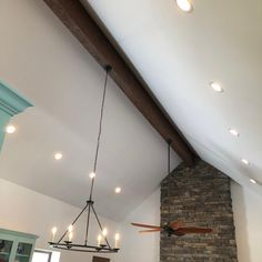 We proudly offer the Ekena Millwork BM Endurathane Faux Wood Ceiling Beam Wood Ceilings, Ceiling Beams, Ceiling Lights, Faux Wood Beams, Real Wood, House Ideas, New Homes, Rustic, Living Room
