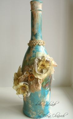 Scraps of Elegance: Altered Bottle with tutorial
