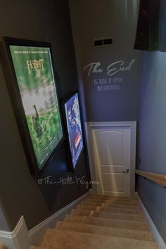 DIY Home Theater - Lighted Movie Posters -#Platform #riser #media #man #cave #decals