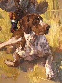A Hunter's Short Hair Pointer by Andre Pater (b.1953)