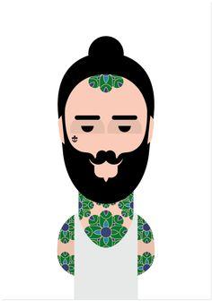 Image of Tatoué Fleur • http://wearelibrary.bigcartel.com/