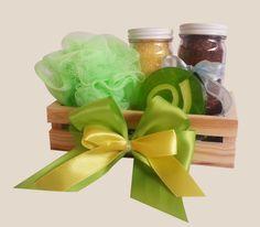 Jabon de glicerina decorado Exfoliante para cuerpo   Sal de baño para relajar Esponja Canasta de madera